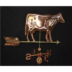 Outdoor Copper COW Weathervane -Polished Finish