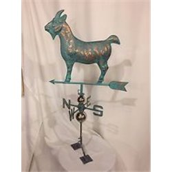 Large Outdoor Copper 3 Dimensional GOAT Weathervane - Patina Finish