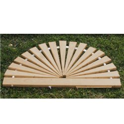 Wood Sunburst Door Mats in Red Cedar - SMALL