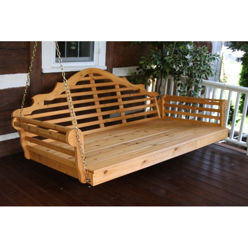 ... Cedar Marlboro Swing Bed ... - 8x10 Pergola Set With Outdoor Curtains