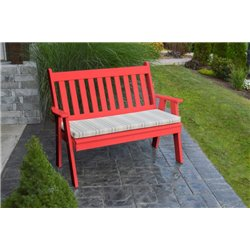 4 Foot Poly Traditional English Garden Bench