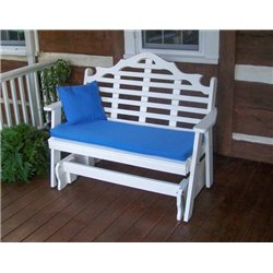 White Shown with Blue Cushion - Pillow Sold Separately