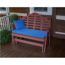 Cherrywood Shown with Blue Cushion - Pillow Sold Separately