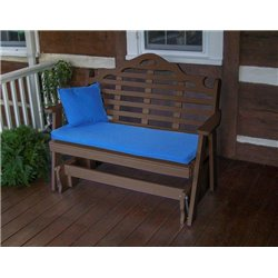 Tudor Brown Shown with Blue Cushion - Pillow Sold Separately