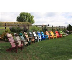 Poly Fan Back Adirondack Chair - Shown with Head Pillow