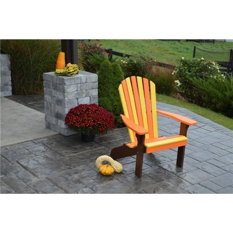 Poly Fan Back Adirondack Chair - Orange, Yellow, & Black Autumn Splendor