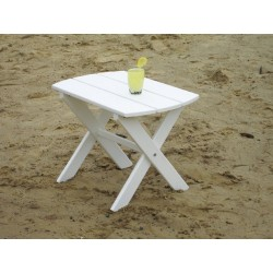 Polywood Oval End Table - Bright White