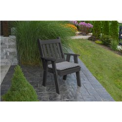 Poly Lumber Traditional English Garden Chair with Arms