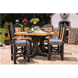 Set of 2 Poly Outdoor High Back Captain Chairs - Bar, Counter, or Dining Height