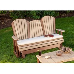 5 Foot Adirondack Style Glider with Seat Cushion