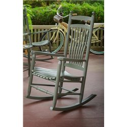 Outdoor Hardwood Ash Breezy Acres Fanback Rocking Chair