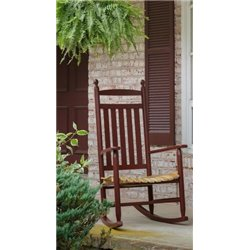 Natural Stained Seat with Burgundy Paint