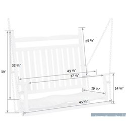 Outdoor Hardwood Ash Breezy Acres Old Squire Swing Dimensions