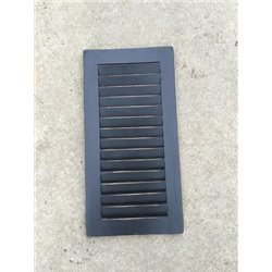 Primitive Pine 2 Foot Tall Pair of Decorative Louver Shutters - Black