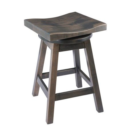 Rustic Bar Stool Urban Swivel In Maple Wood With Stain Options
