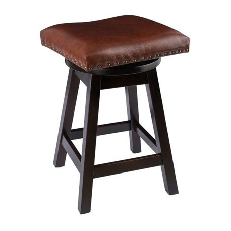 Rustic Bar Stool Urban Swivel Stool In Maple Wood With Leather