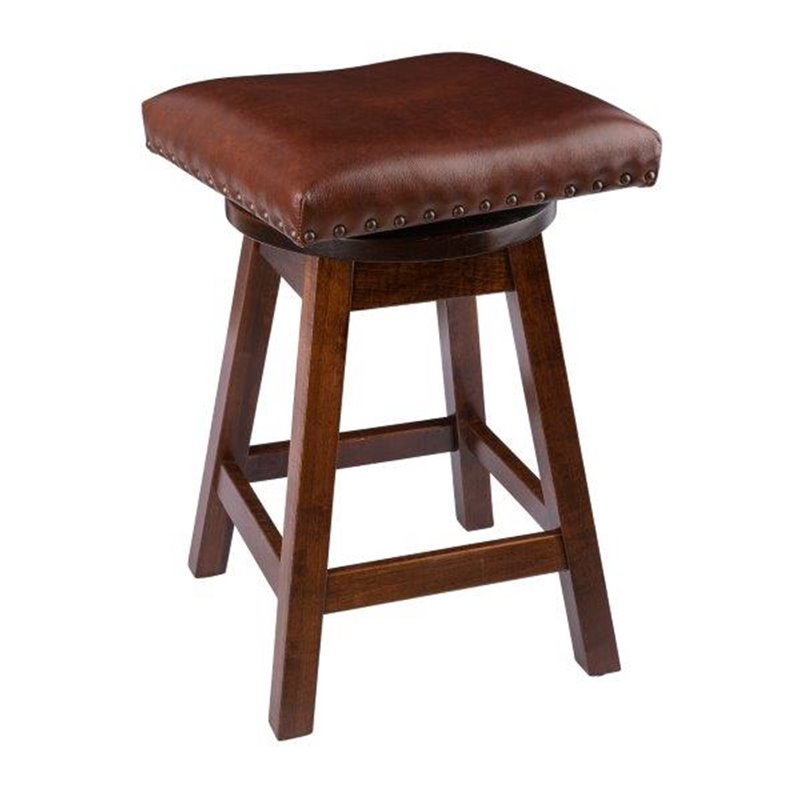 Rustic Bar Stool Urban Swivel Stool In Maple Wood With
