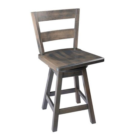 Rustic Bar Stool Urban Swivel Stool In Maple Wood With Straight