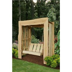 Arbor with Swing shown in Unfinished