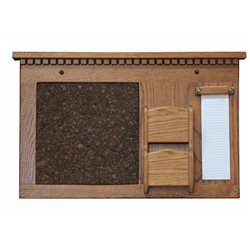 Hanging Letter and Bill Organizer with Cork Board and Notepad