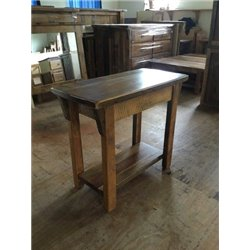 Barn Wood Sofa Table - Rustic Accent Table with Lower Shelf