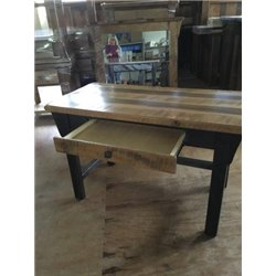 Barn Wood Desk - Reclaimed Wood Writing Desk with Drawer