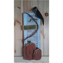 Primitive Fall Harvest Decorative Garden Shutter