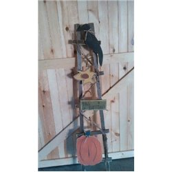 Primitive Fall Blessings Decorative Garden Ladder