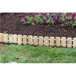 Garden Edging - Pressure Treated Pine No Dig Roll Up Flower Bed Edges