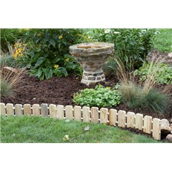 ... Garden Edging   Pressure Treated Pine No Dig Roll Up Flower Bed Edges  ...
