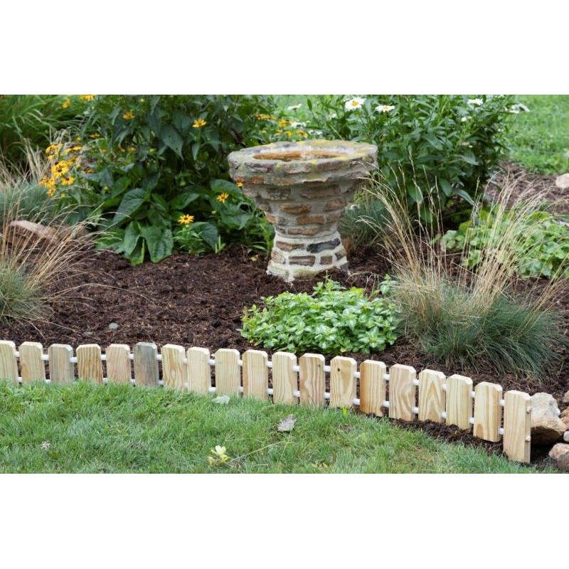 Garden Edging Pressure Treated Pine No Dig Roll Up