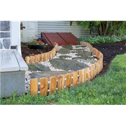 Garden Edging - Red Cedar Wood No Dig Roll Up Flower Bed Edges