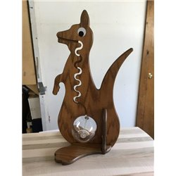 Kangaroo Piggy Bank - Solid Oak Bank with Big Belly