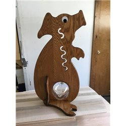 Pig Piggy Bank - Solid Oak Bank with Big Belly
