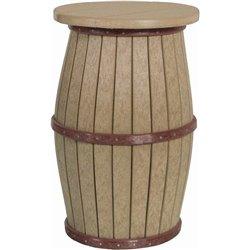 Barrel Stool - Outdoor Poly Lumber Round Top in Counter Height