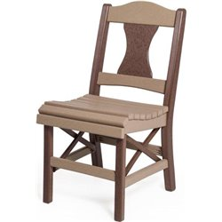 Panel Back Side Chair shown in Weather Wood & Brown