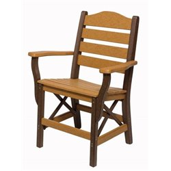 Arm Chair shown in Cedar & Brown