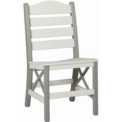 Side Chair shown in White & Dove Gray