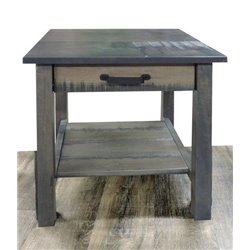 Deluxe Side Table Table with Drawer in Antique Slate Stain