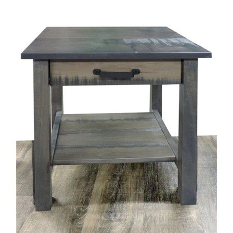 Fine Deluxe Side Table With Drawer In Antique Slate Stain Creativecarmelina Interior Chair Design Creativecarmelinacom