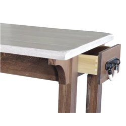 Deluxe Kitchen Island with Side Drawer and Optional Casters
