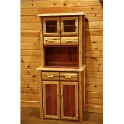 Rustic Red CedaR Log 2 Door Hutch & Buffet