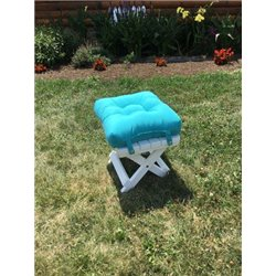 Admirable Sling Back Siesta Folding Adirondack Chair With Ottoman Poly Lumber Gmtry Best Dining Table And Chair Ideas Images Gmtryco