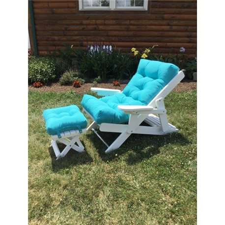 Marvelous Folding Sling Back Siesta Adirondack Chair With Ottoman Gmtry Best Dining Table And Chair Ideas Images Gmtryco