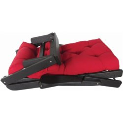 Black Poly with Canvas Red Jockey Fabric - Folded