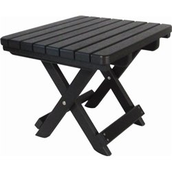 Black Folding Side Table