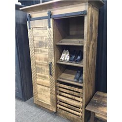 Deluxe Sliding Barn DoorWardrobe with Removeable Storage Crates