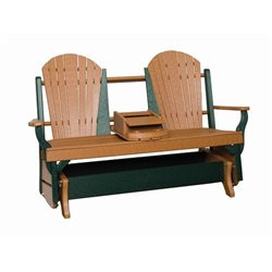 Poly Lumber Fanback Double DELUXE Glider - 18 Standard Colors