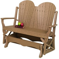 Poly Lumber Bentwood Style Single Glider - 18 Standard Colors