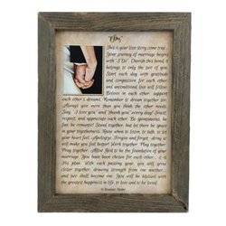 I DO Wedding Advice Print with Rustic Tobacco Lath Board Frame